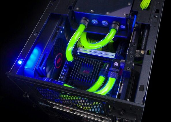 Liquid Cooling System Neon Green Office Phone Phone Landline Phone