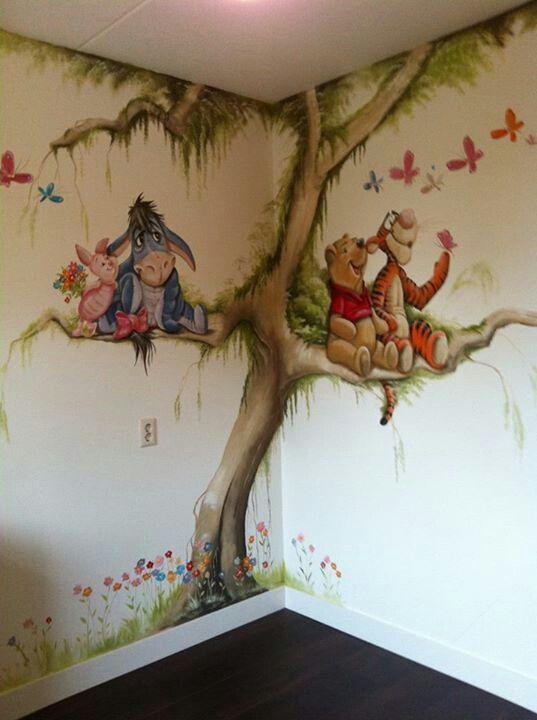 Winnie the pooh mural mm pinterest decorar - Habitacion winnie the pooh ...