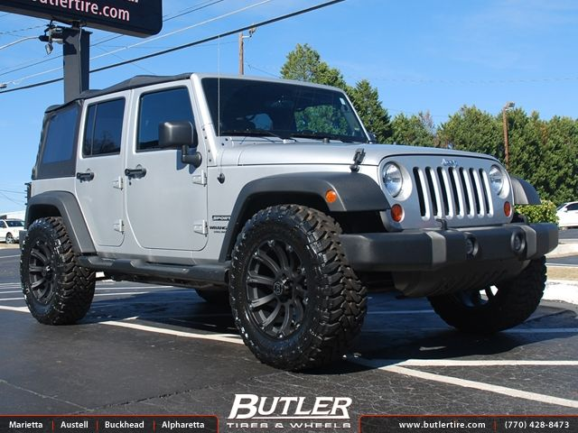 Jeep Wrangler With 20in Black Rhino Sidewinder Wheels For The Jeep