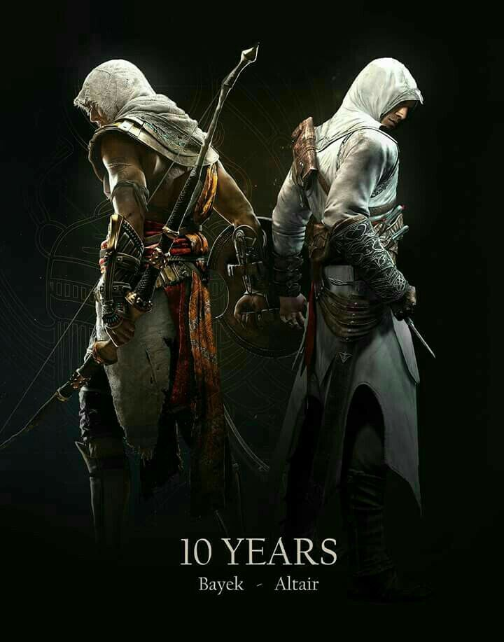 Assassin S Creed Bayek And Altair Assassin S Creed Wallpaper