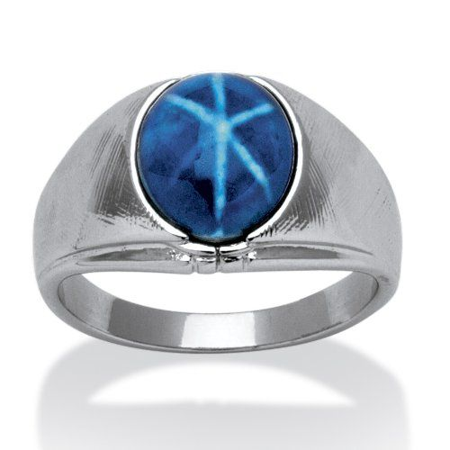 Blue Tiger Eye Ring   M Js Board  Star Sapphire Ring -3731