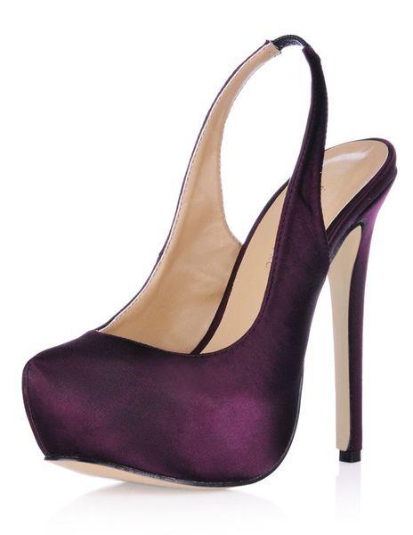 Purple Imitated Silk Woman's Sling Backs – Women's Shoes