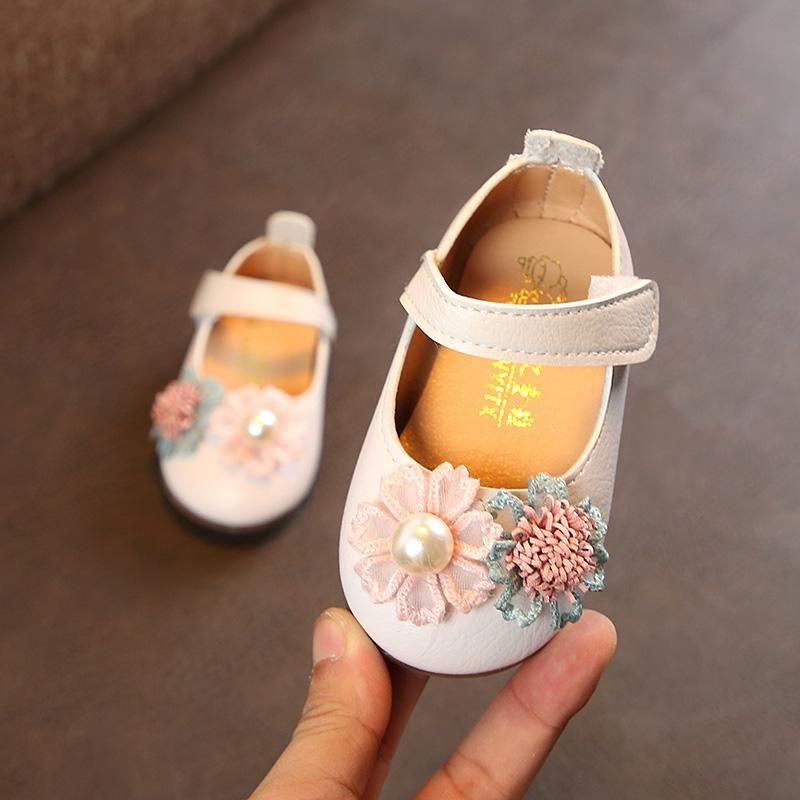 women Baby Princess Shoes 2019 Spring And Autumn New Style Anti-slip Soft Bottom Girls HUADO Small Leather Shoes Infant 0-1 Toddler Shoes
