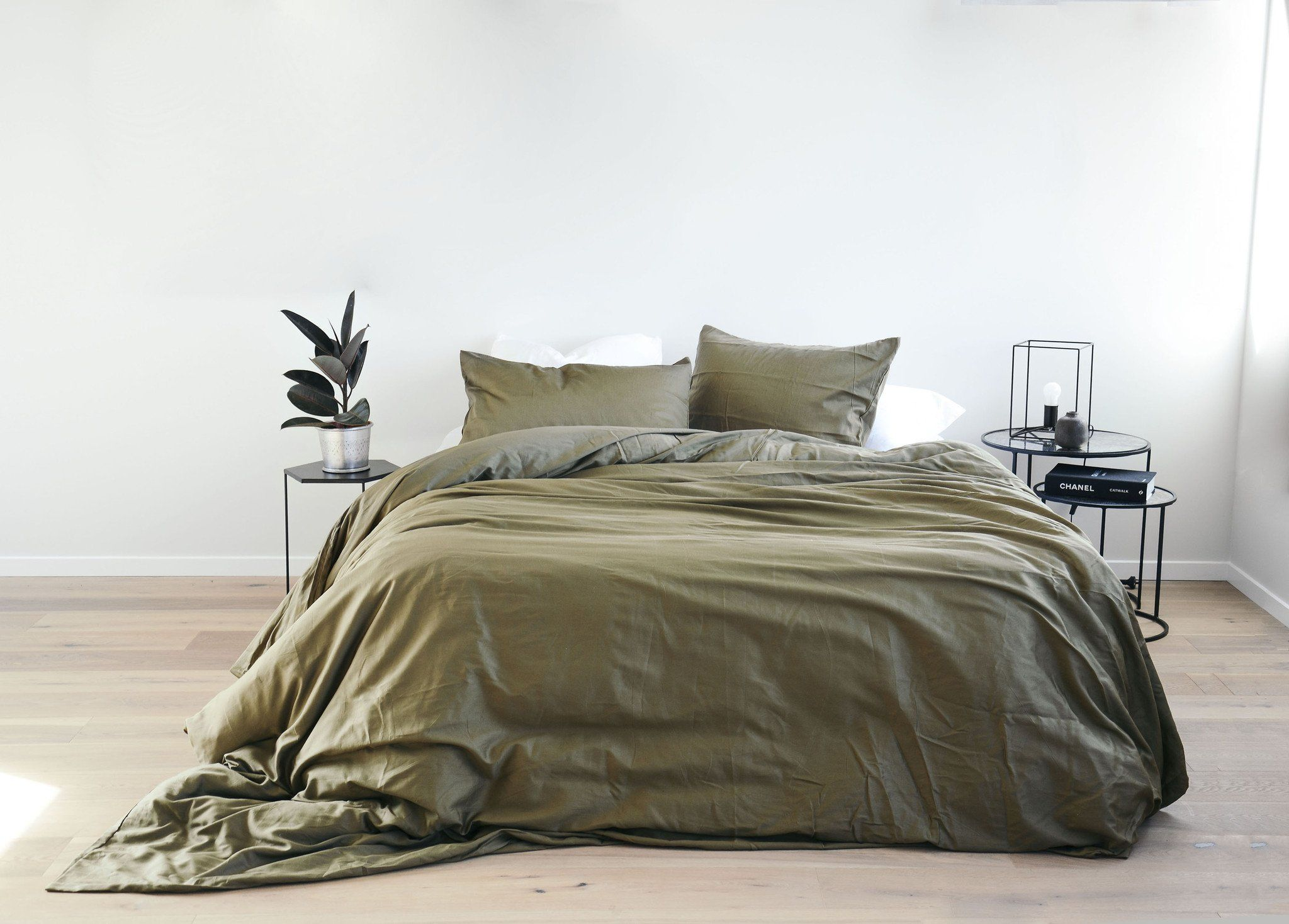 olive organic cotton bed cover PENNEY +