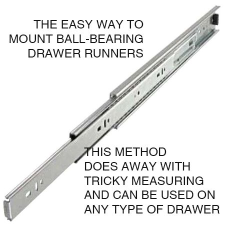 Mounting drawer runners can be tricky if you don't get the ...