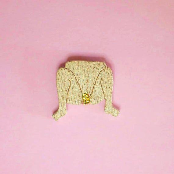 Photo of Pin's little golden – pine's in sequin wood – handmade woode…