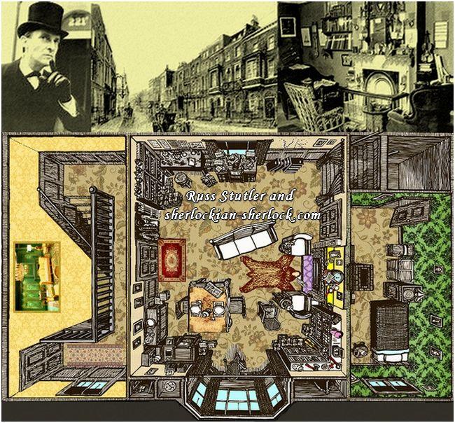 Baker street 221b floor plan sherlock holmes for 221 armstrong floor plans