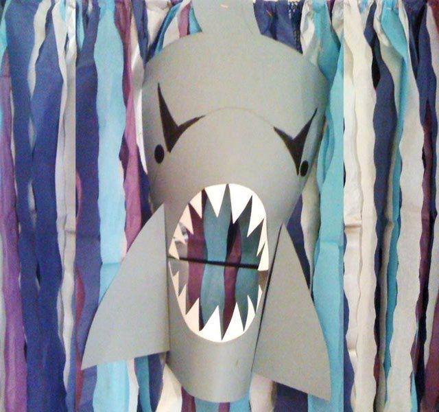 Molde mascara tiburon c 243 mo hacer unas divertidas y - Como hacer una mascara ...