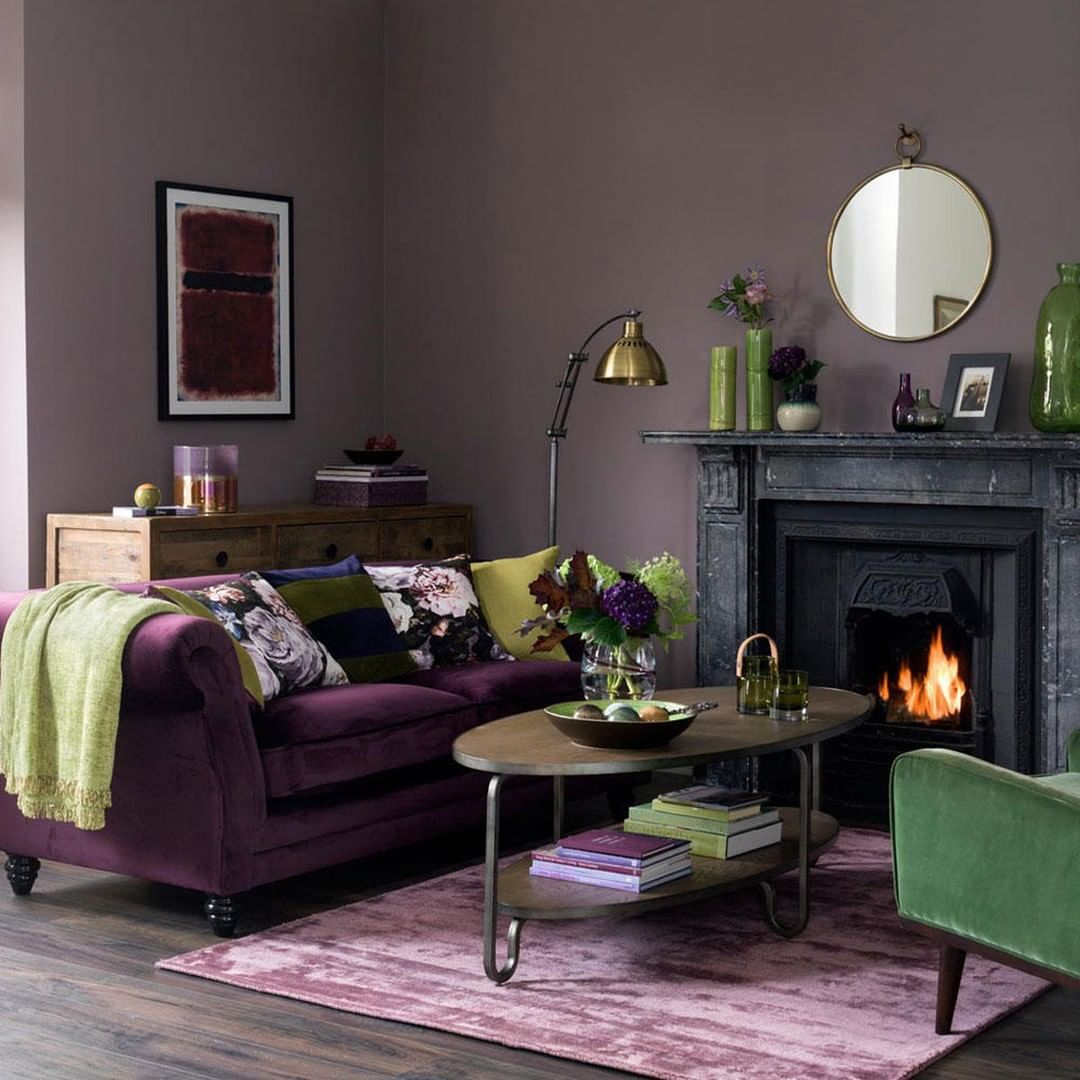 Ideal Home On Instagram Purple And Green Makes A Stunning Colour