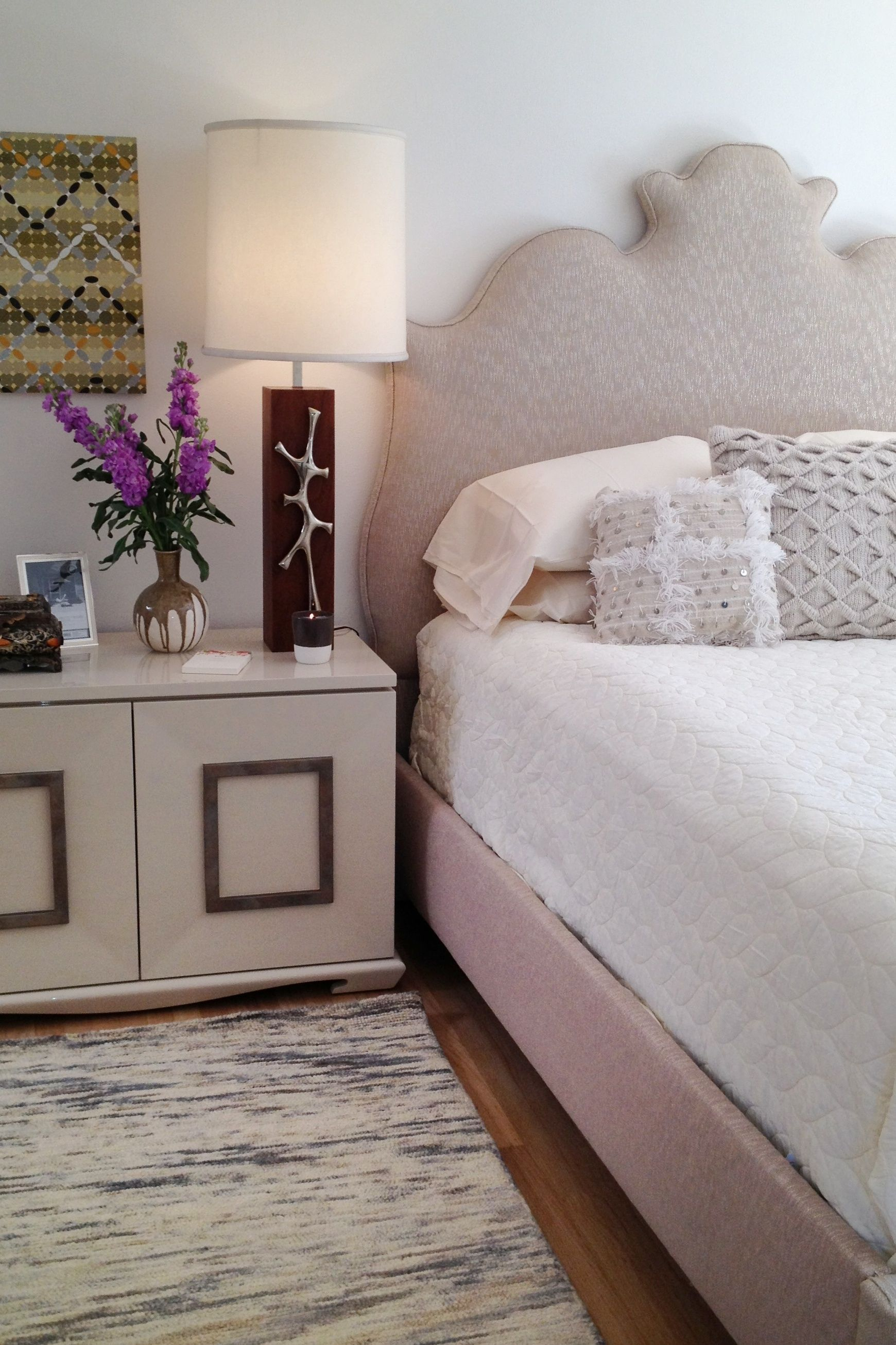 Luxury bedroom with neutral color palette by celebrity