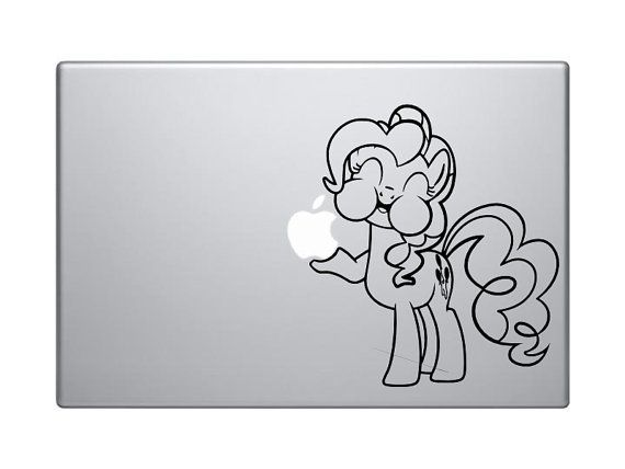 My Little Pony Coloring Pages Nightmare Moon : Pinkie pie macbook sticker my little pony mlp