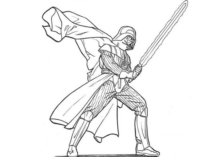 easy darth vadar coloring pictures