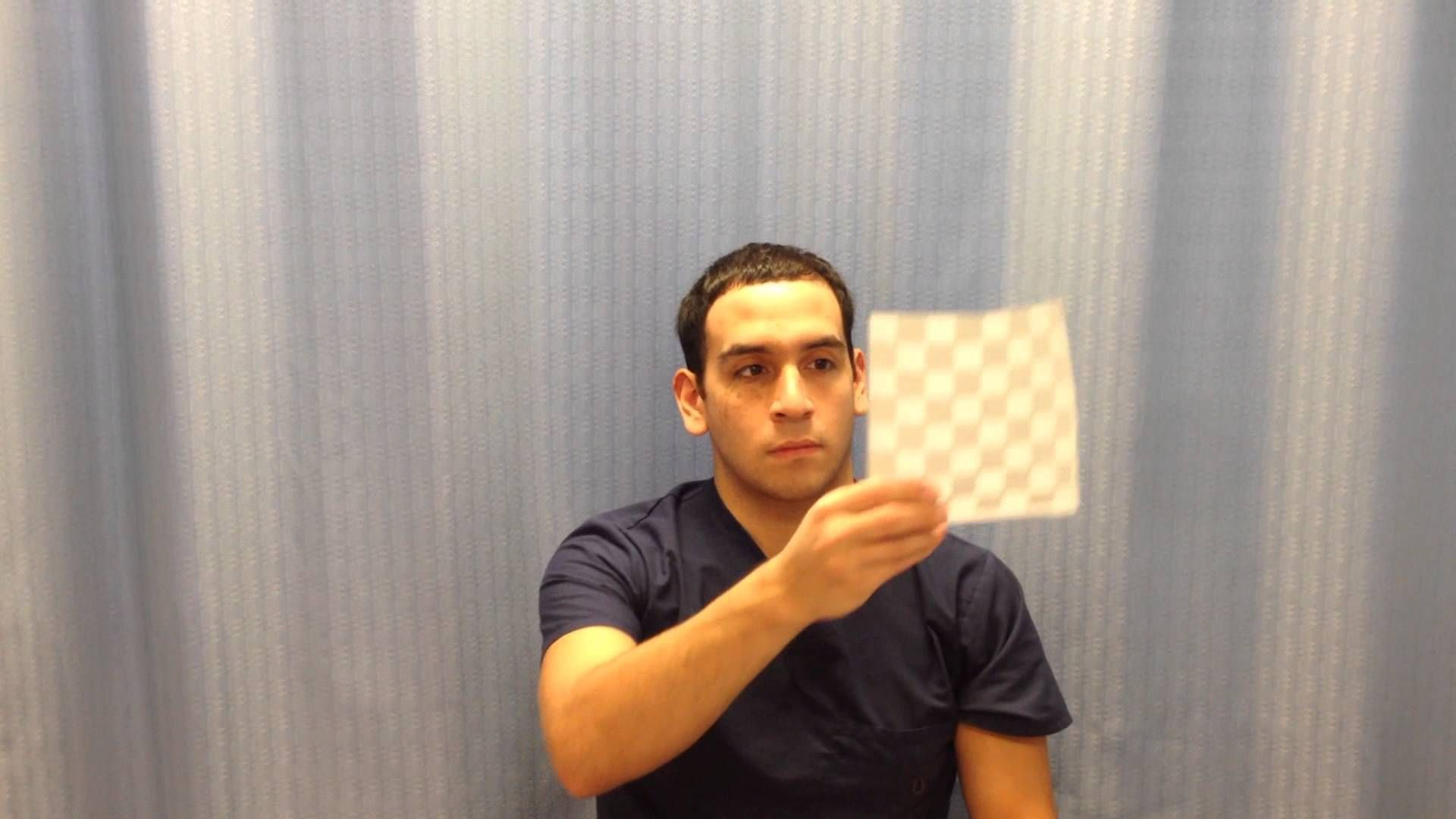 Visual Eye Tracking Exercise For Dizziness Part 1