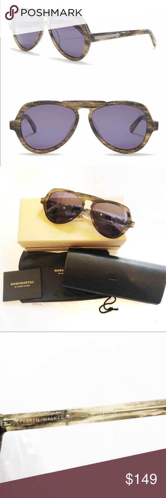 Karen Walker Eyewear Monumental Sunglasses Oscar Black NEW