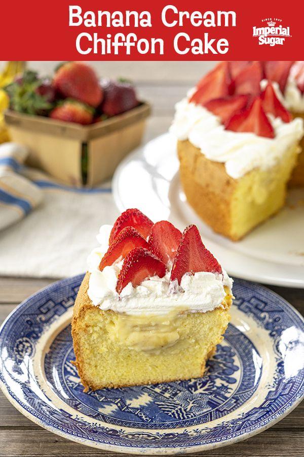 Banana Cream Chiffon Cake #pralinecake