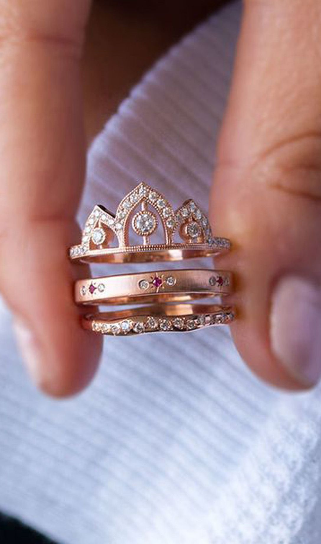c71bf0fe7f cute crown rose gold rings engagement wedding graduation for women for teen  girls fashion jewelry www.jewolite.com