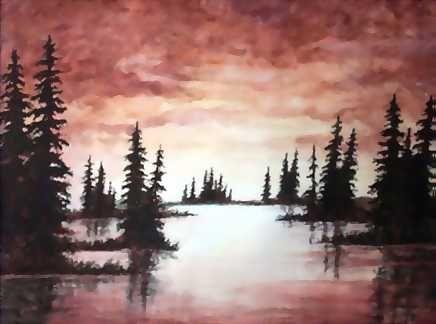 Watercolor Sunset PaintingsWatercolor PaintingsLandscape