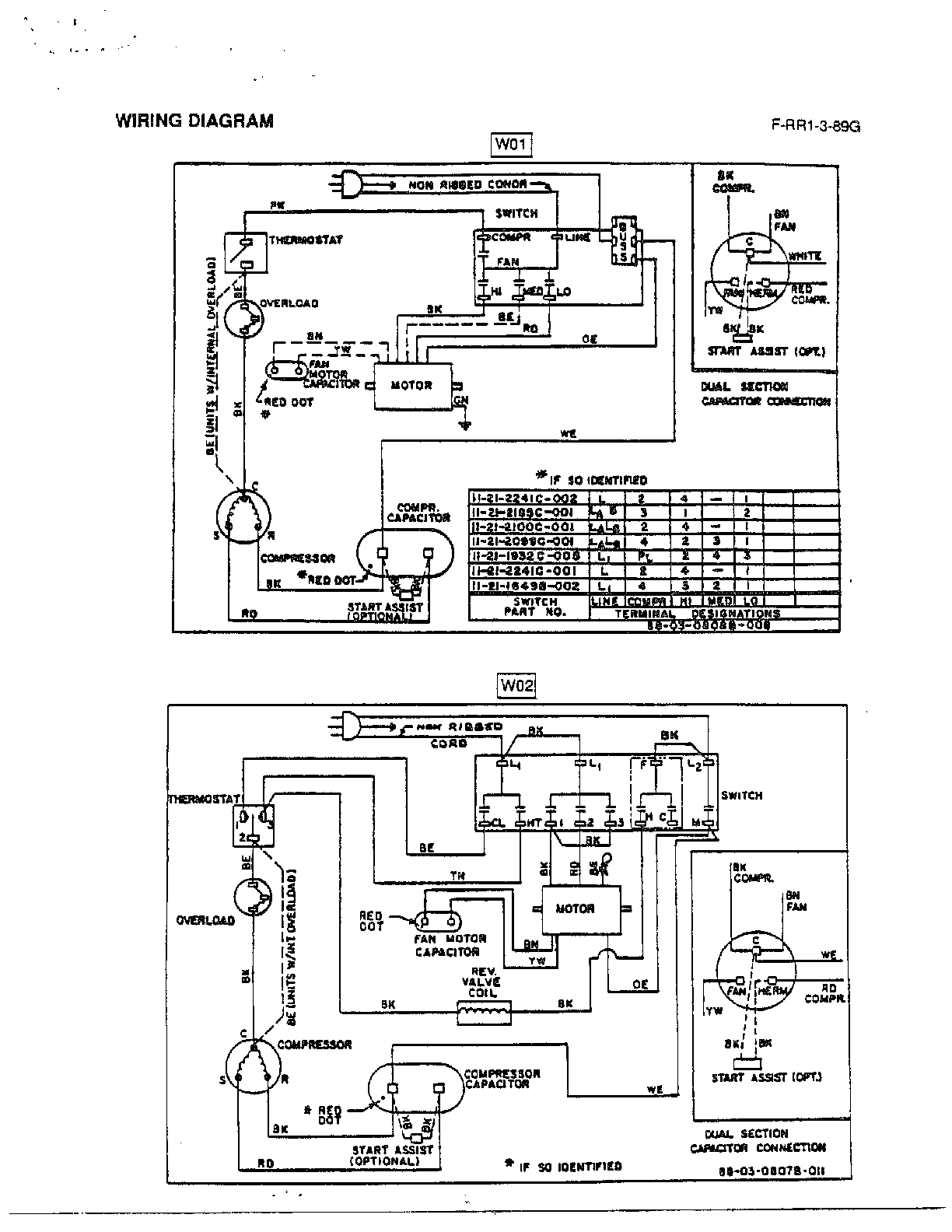 marvair air conditioners wiring diagrams
