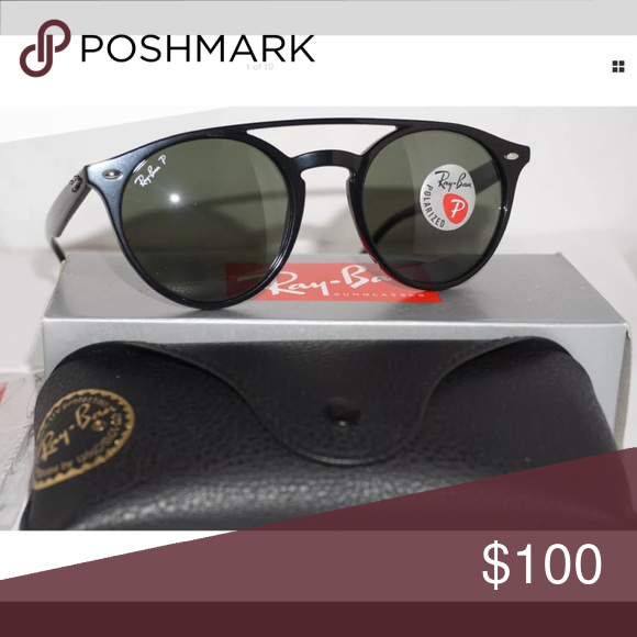 c704c9f426 Ray-Ban Double Bridge polarized NEW (RB-4279) Ray-Ban Double Bridge black  with green lenses polarized sunglasses NEW (RB-4279) 601/9a Ray-Ban  Accessories ...