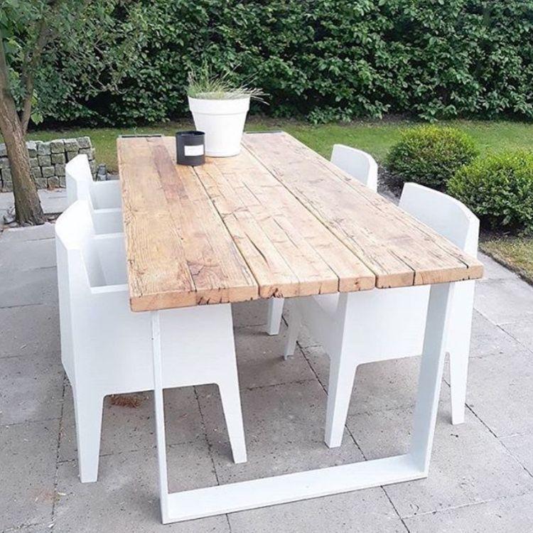 Gartentisch Aus Recycelten Gerustbohlen Massivholztische In