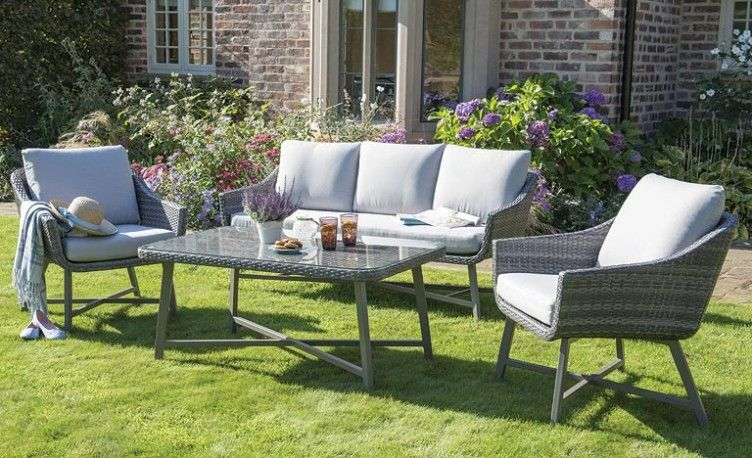 lamode lounge set from kettlers wicker garden furniture range in the garden - Garden Furniture The Range