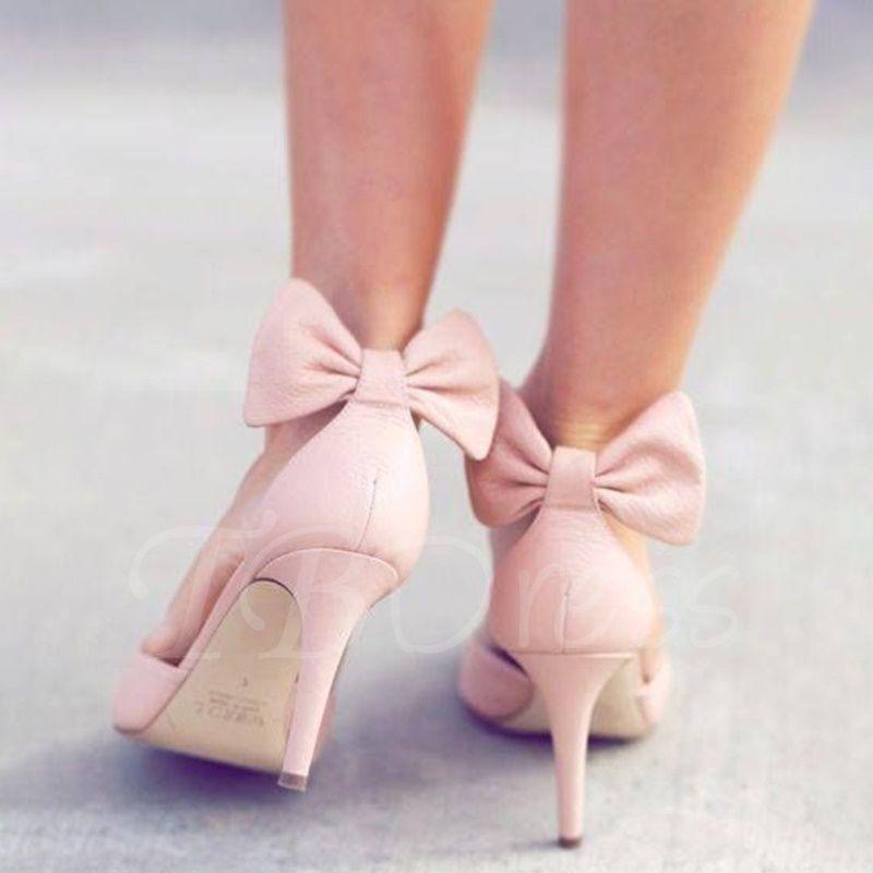 b2b9ec68a18 Tbdress.com offers high quality Sweet Back Bow Stiletto Heels Women s Pumps  Pumps unit price of   61.99.