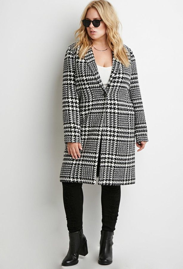 6520c7e1713 FOREVER 21+ Houndstooth Car Coat (plus size)