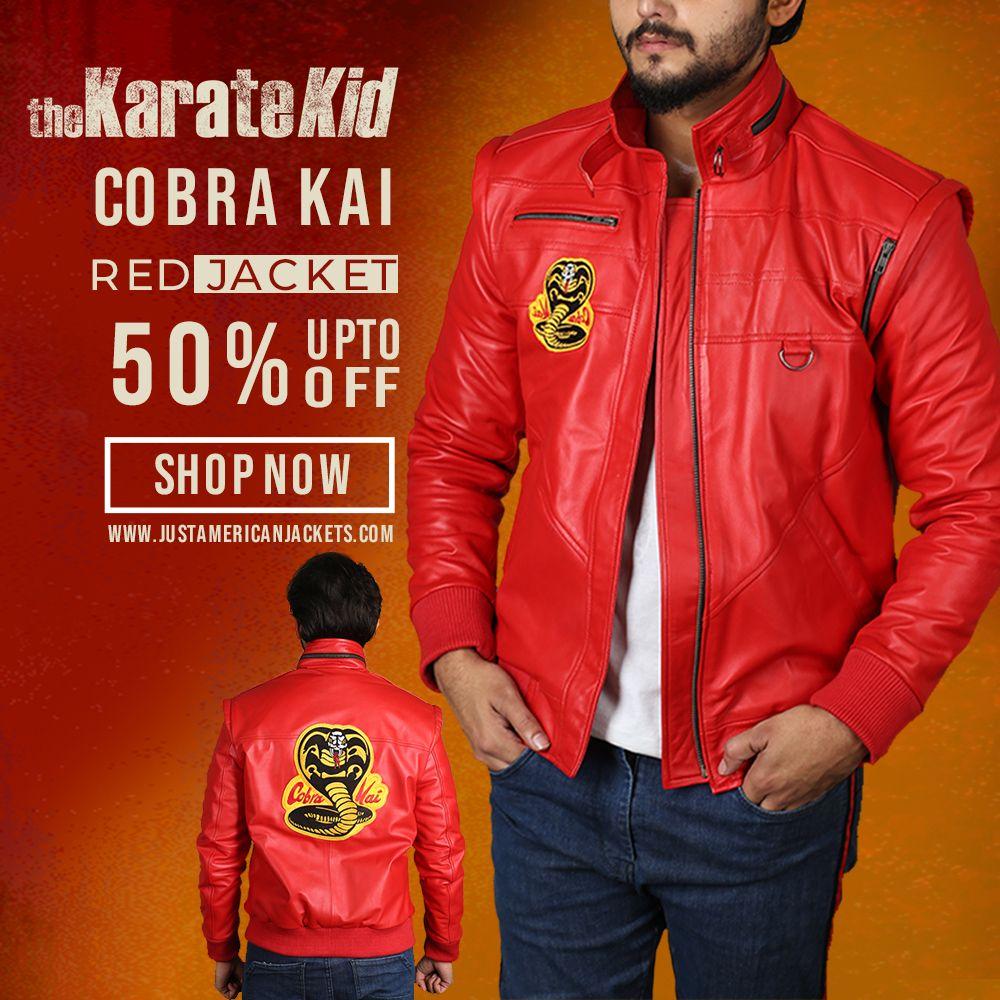 Cobra Kai Jacket Cobra Kai Red Bomber Jacket Just American Jackets Red Bomber Jacket Karate Kid Cobra Kai Jackets [ 1000 x 1000 Pixel ]