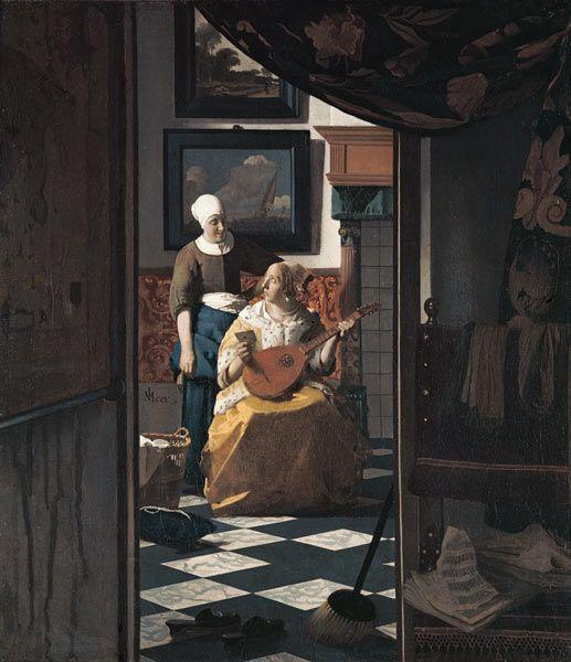 Jan Vermeer van Delft - Vermeer/ The love letter / c.1669/70