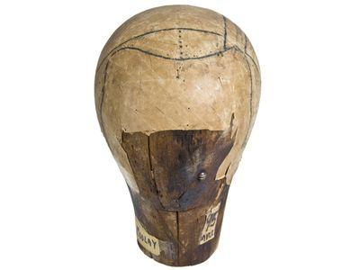 Antique Wood German Wig Maker Form