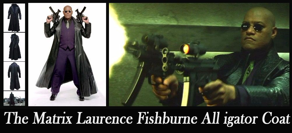 83137f303 The Matrix Laurence Fishburne Alligator Coat | Celebrities costumes ...