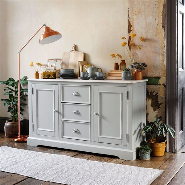 Doors & Ledbury Painted Marble Top Large Sideboard from The Cotswold Company ...