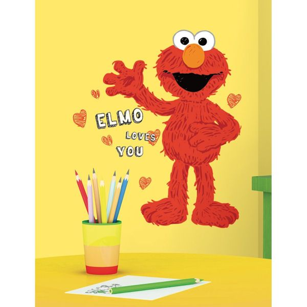 Elmo Loves You Giant Wall Decals - Wall Sticker Outlet | Sesame ...