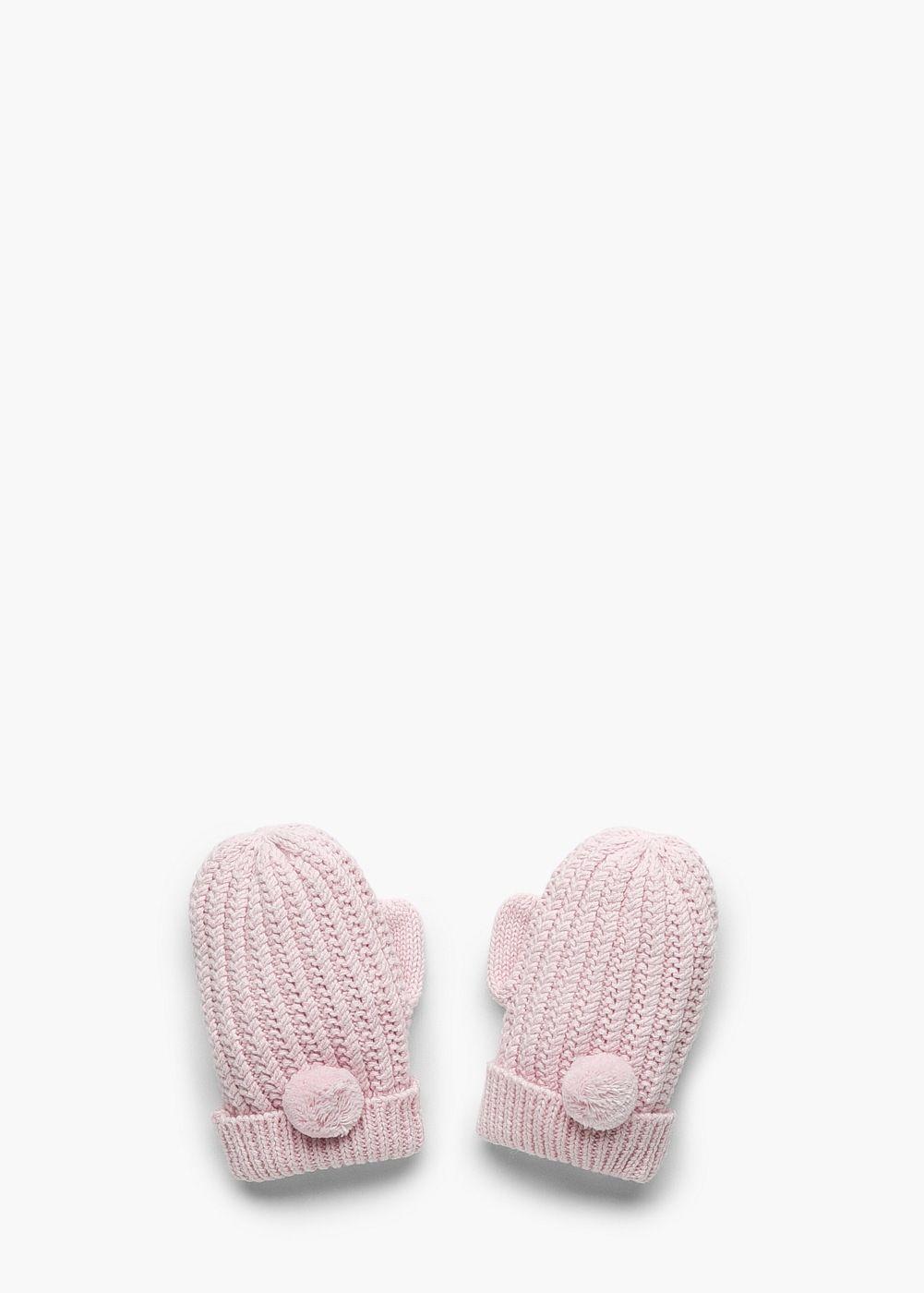 Ribbed knit gloves - Girls  e2925f6b5459