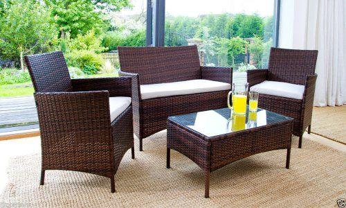 4 piece rattan garden furniture set ijinteriors on ebay down to 9995 - Garden Furniture Deals