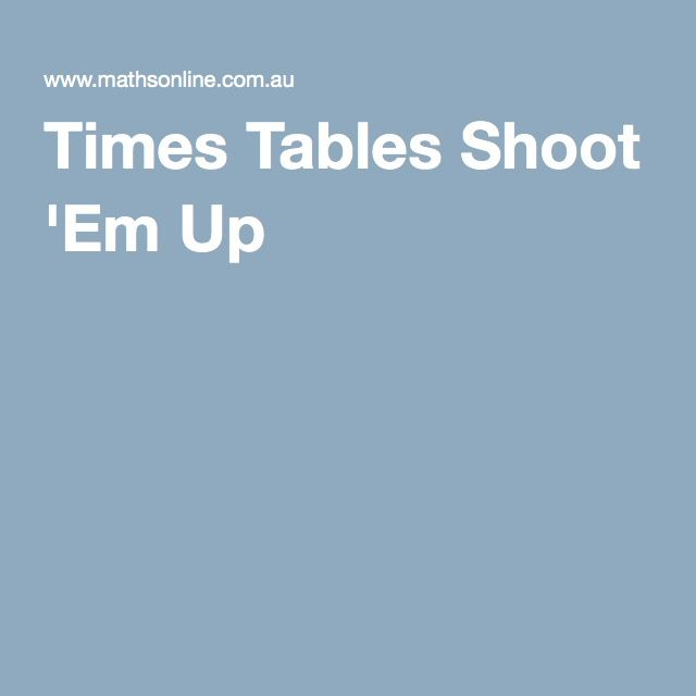 Times Tables Shoot Em Up Space Invaders Style Game Where There