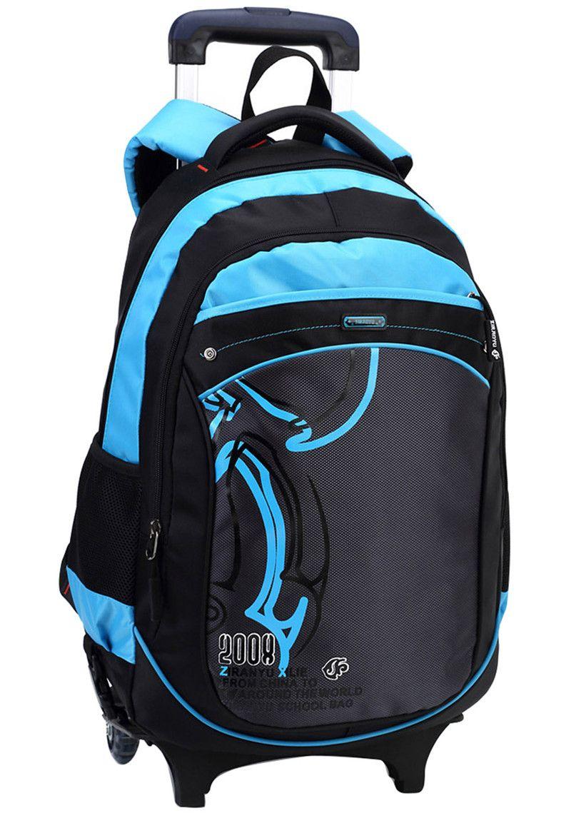 Hot Boys Trolley backpack Girls Wheeled School Bag children Travel ...