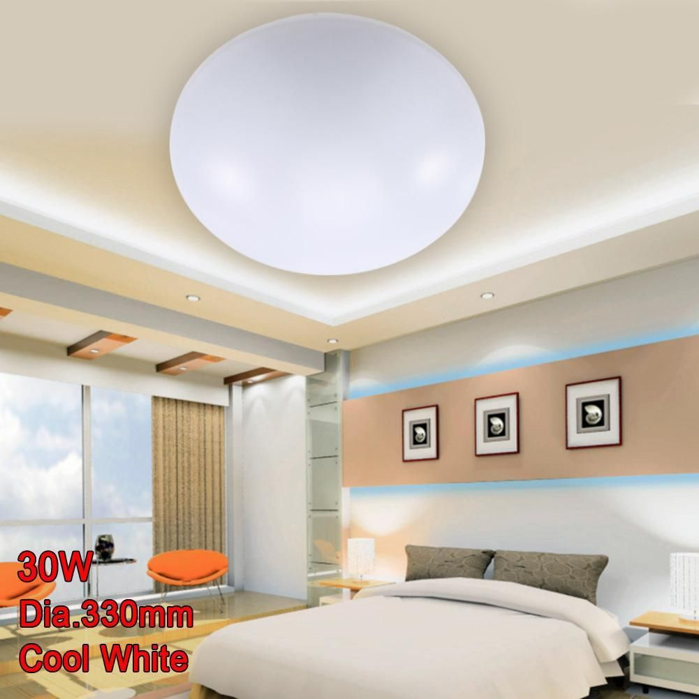 Led Ceiling Lights Dia 330mm Acrylic Bright Cool White 30w Modern