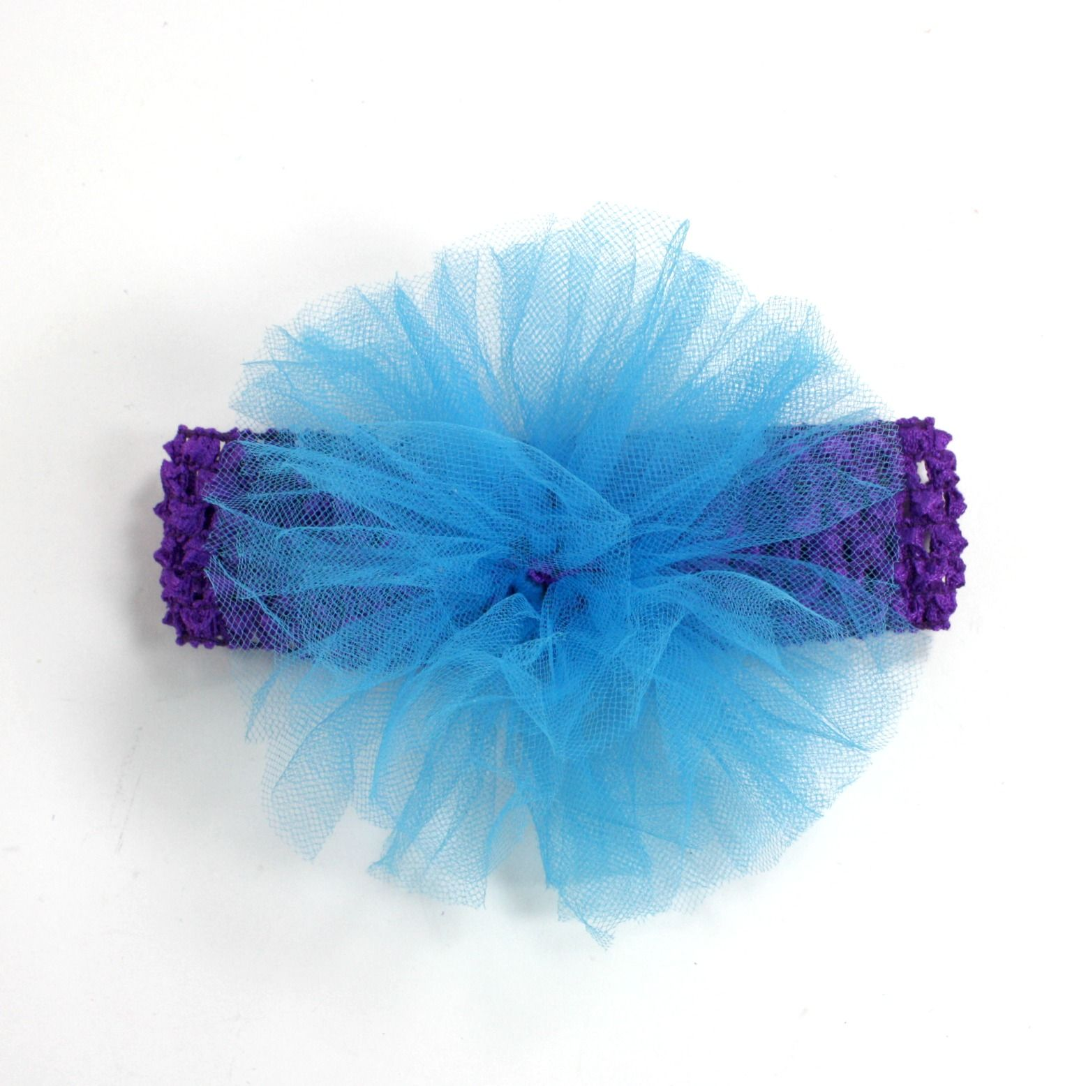Crochet headband puff tutorial 001 tutorial how to make a crochet headband puff tutorial 001 tutorial how to make a headband with a tulle puff baditri Image collections