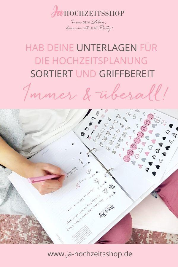 Photo of Hochzeitsplaner Ordner mit Checklisten + KOSTENLOSE Erinnerungsbox | ja-hochzeitsshop.de