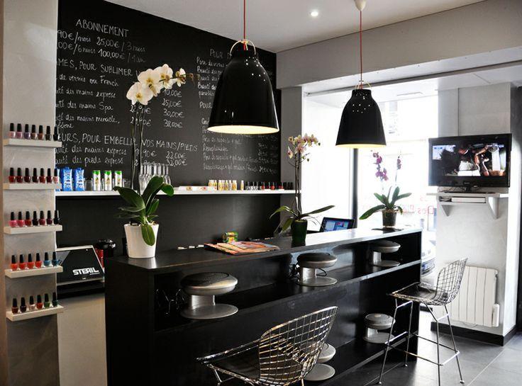 Reception counter the loft nail salon pinterest for Salon spa paris