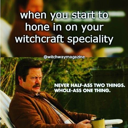 Funny Witch Parks And Rec Meme Witch Meme Yoga Funny Universe