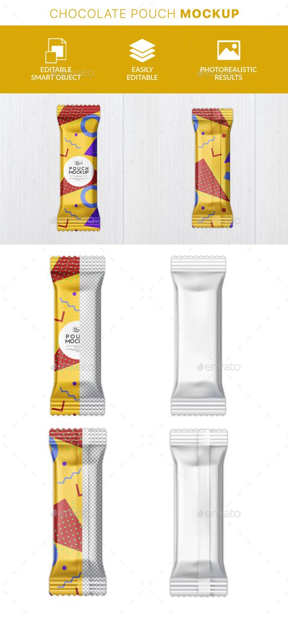 Protein Bar Packaging Mockup ¨C Use This Mockup Of Candy