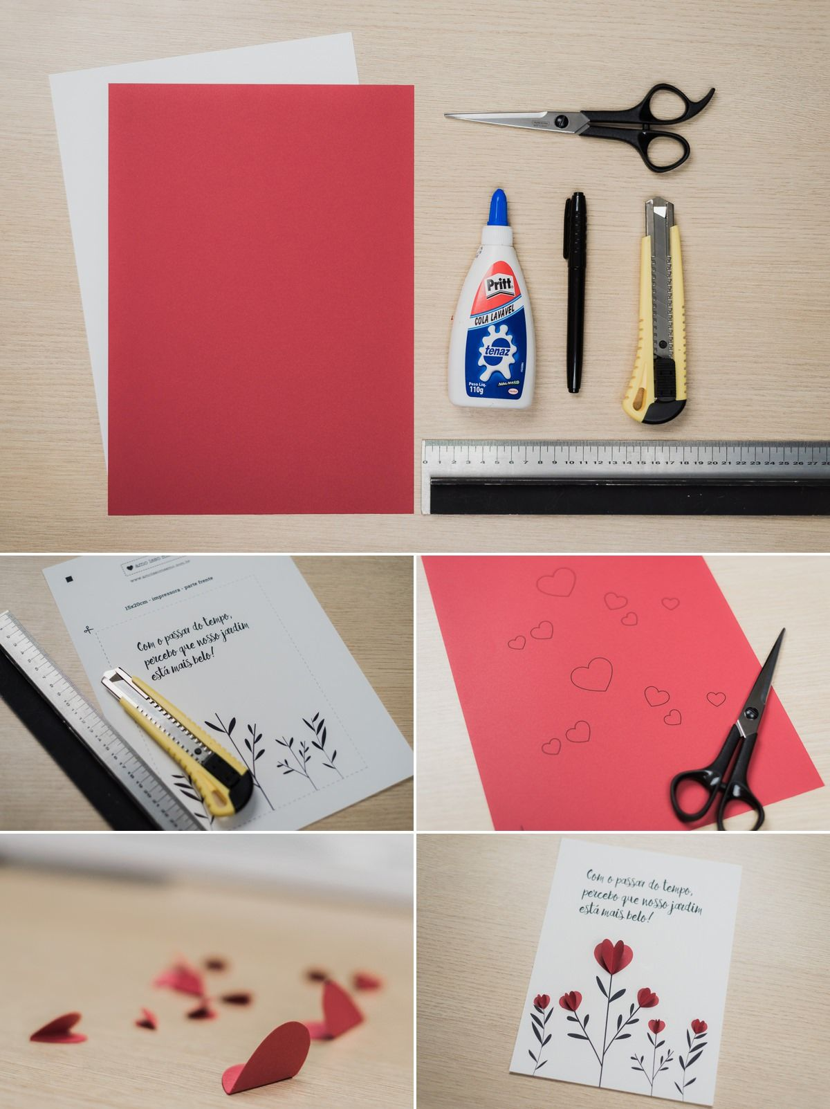 Ideias de Cartões criativos para o dia dos namorados - Passo a ...