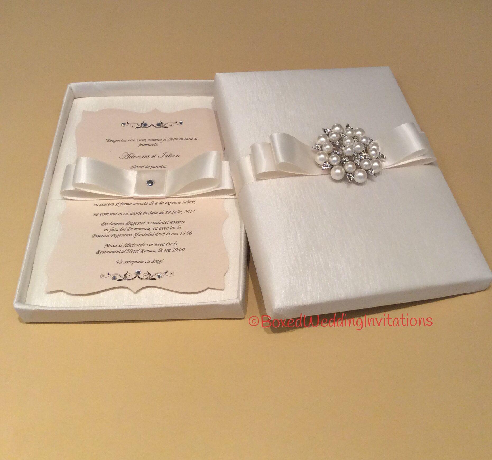 Elegant Wedding Invitation Box