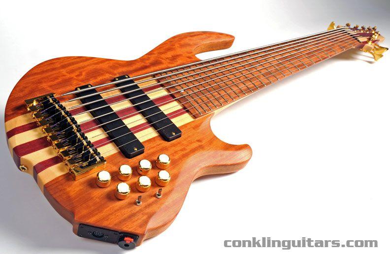 Custom Shop Figured Bubinga Sidewinder 9 String Bass