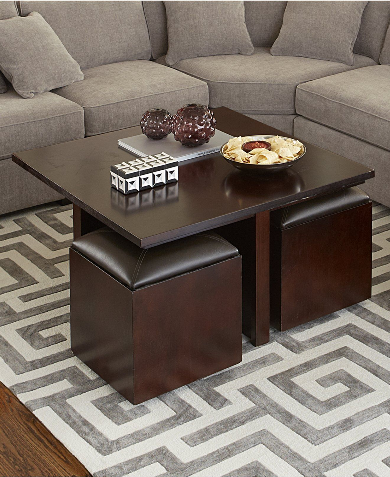 Belford Cocktail Table Square Furniture Macy S Coffee Table With Seating Coffee Table Living Room Modern Coffee Table [ 1616 x 1320 Pixel ]