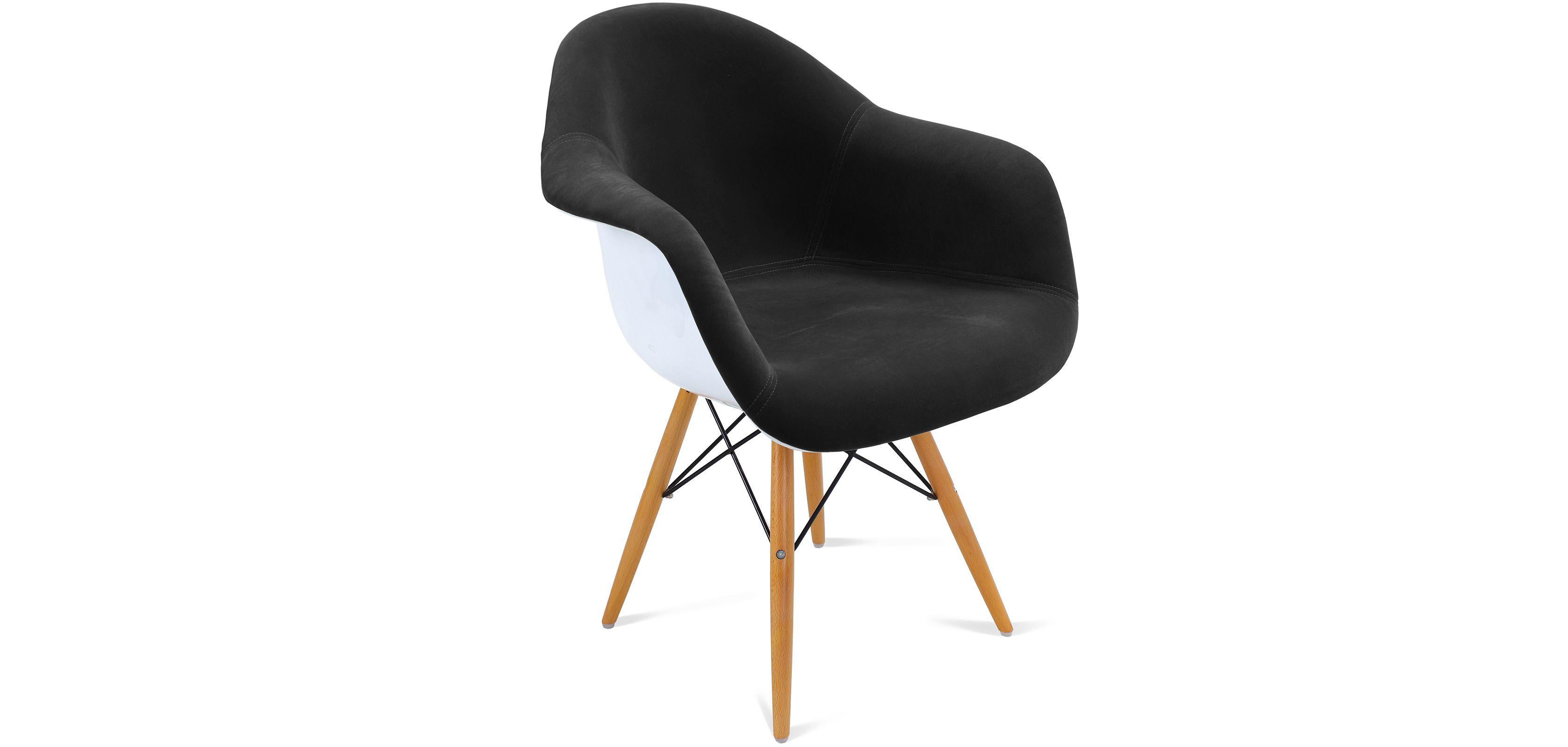 Chaise DAW inspirée Charles Eames - Tissu - Coque blanche | DECO ...