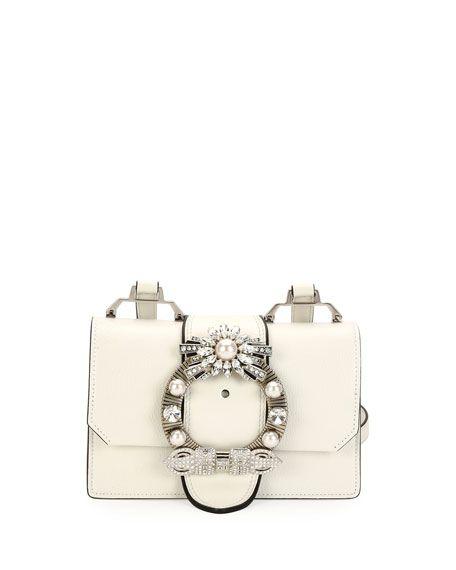 Lady Jeweled Madras Leather Shoulder Bag   Bag   Miu miu, Bags ... a23177d276