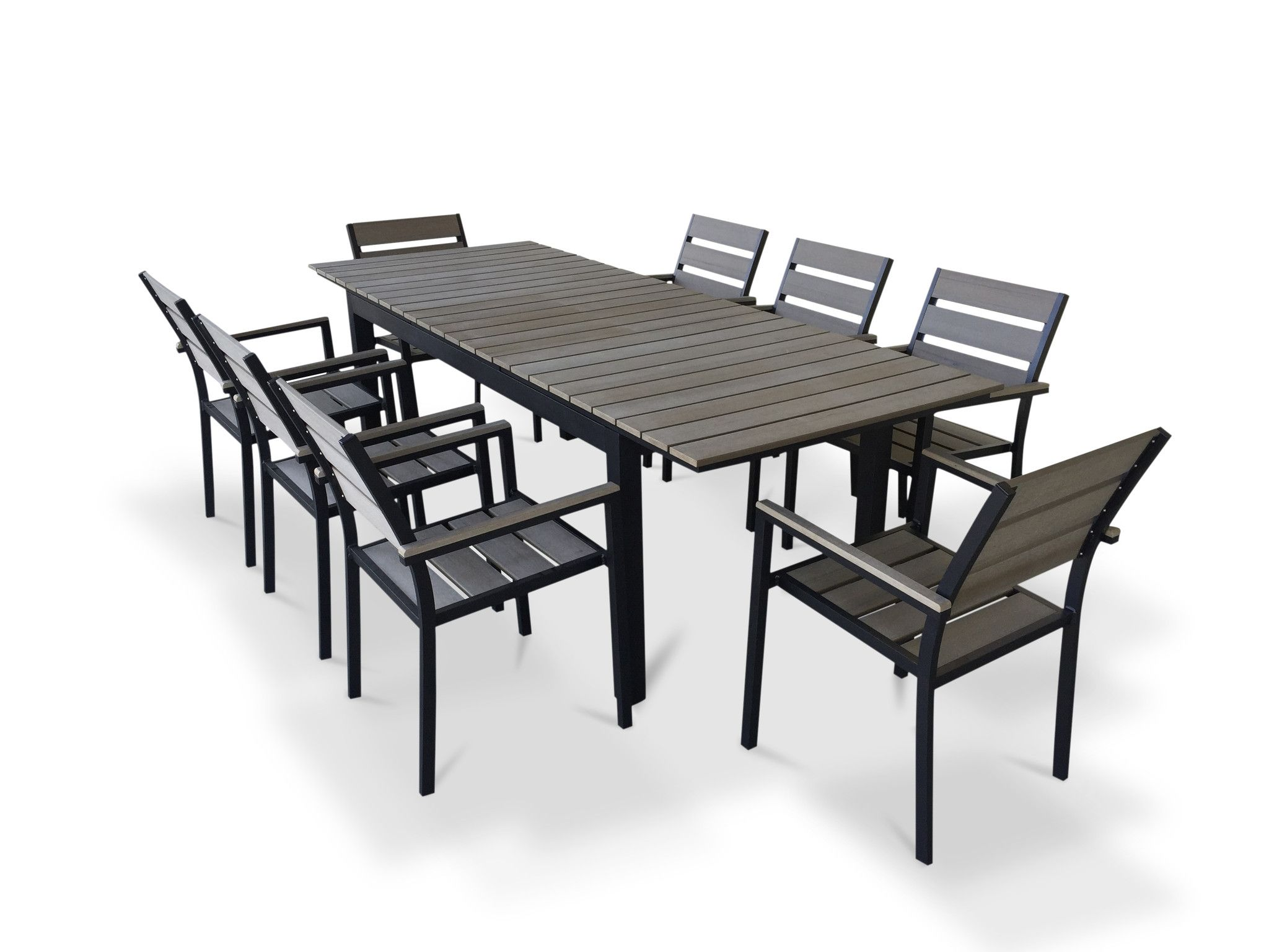 extendable outdoor dining sets kontiki butterfly artwood